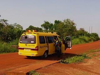 we maken gebruik van lokaal vervoer tijdens onze beleef Ghana reizen