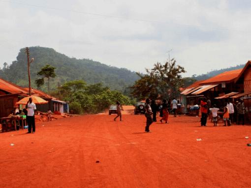 typical Ashanti village in Ghana