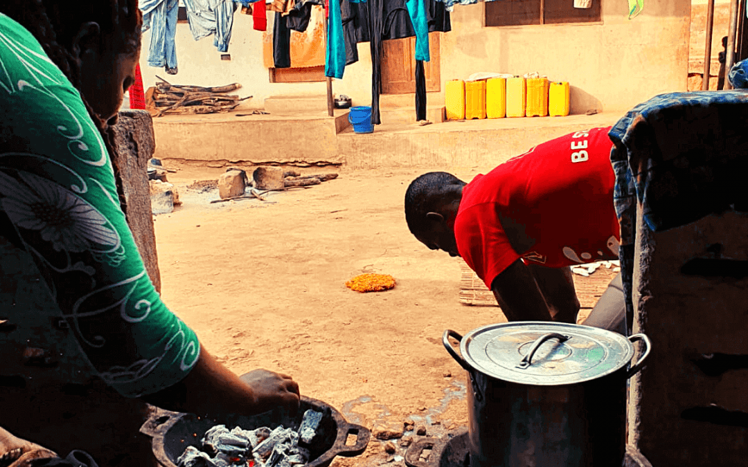 African life on a compound in Ghana