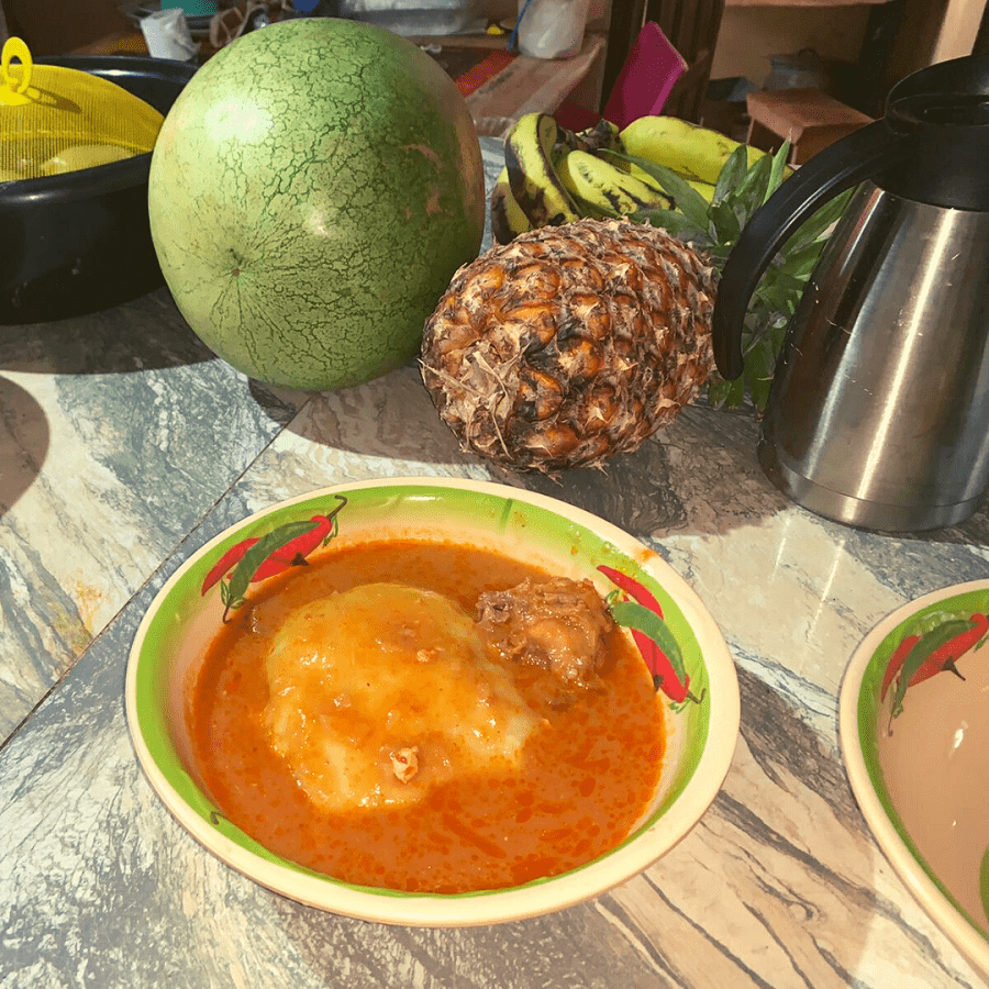 fufu the most famous food in Ghana