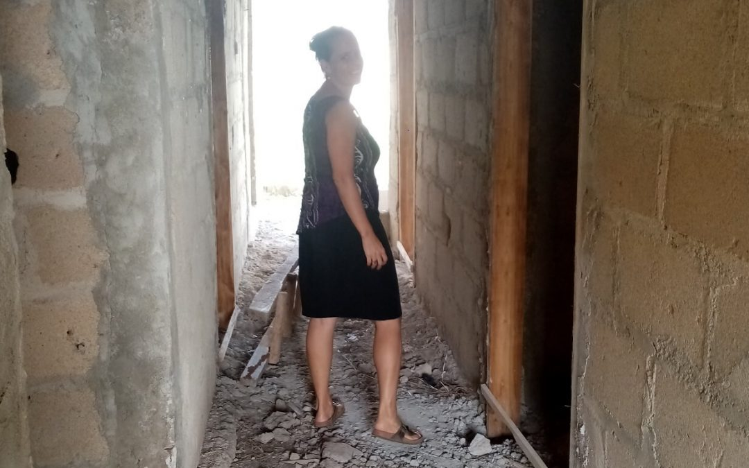 Building in Ghana, Patricia visits a work site