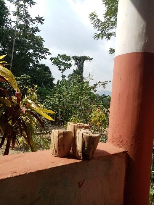 ghanese zon in de middag